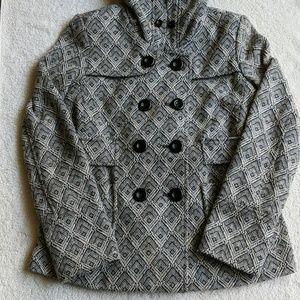 Forever 21 Hooded Speckled Peacoat